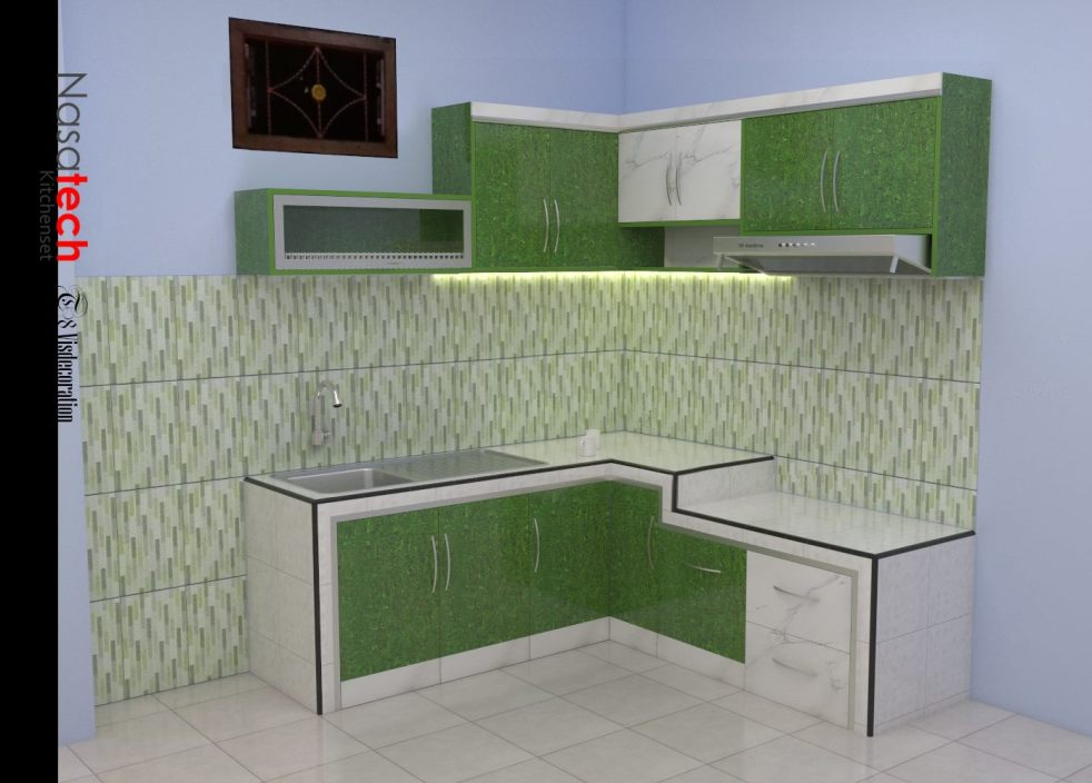 Harga kitchen cabinet contoh kitchen cabinet gambar for Harga kitchen set aluminium minimalis